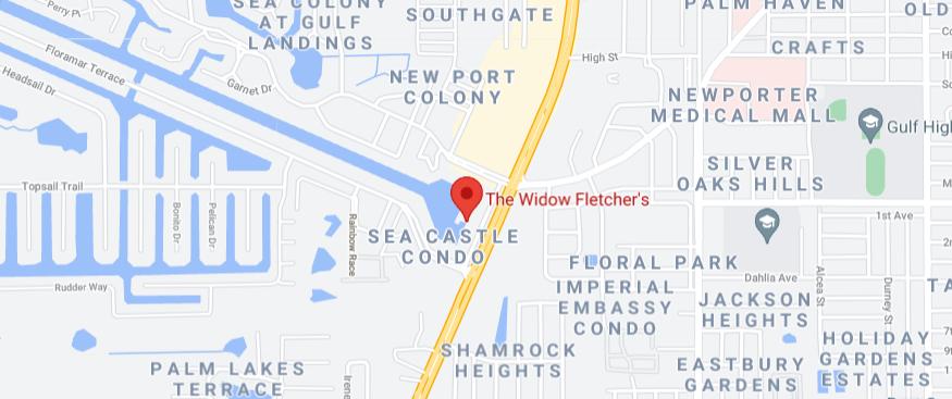 Widow Fletcher's New Port Richey FL Map